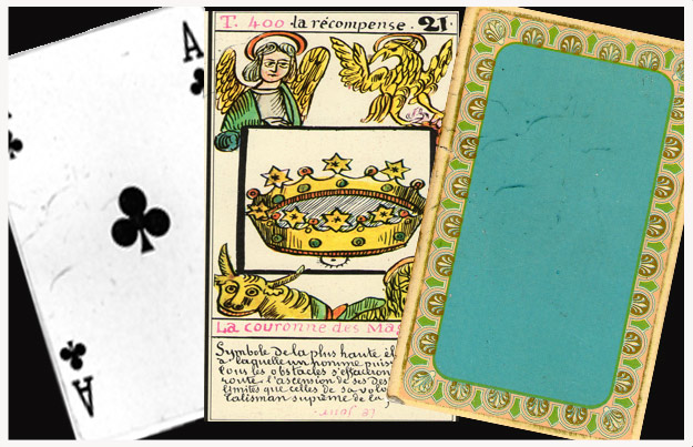 Cartes de tarot utilisées par une médium