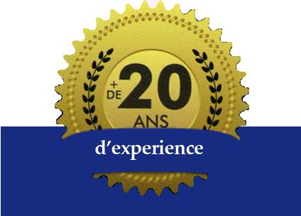 + de 20 ans d'expérience
